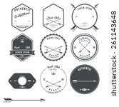 set of vintage hunt icons ...   Shutterstock .eps vector #261143648