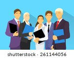 business people group human... | Shutterstock .eps vector #261144056