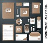 vector brochure  flyer ... | Shutterstock .eps vector #261146486
