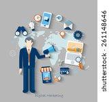 flat design modern vector... | Shutterstock .eps vector #261148646