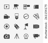 camera and photo icons.... | Shutterstock . vector #261154175
