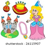princess collection on white... | Shutterstock .eps vector #26115907