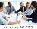 business people meeting for... | Shutterstock . vector #261159122