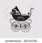 Illustration Of A Retro Baby...