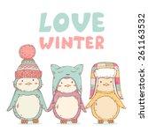 Cute Cartoon Penguins Friends...