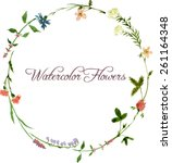 Vector Watercolor Floral Frame...