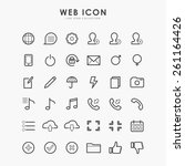 36 web icon on line icon flat... | Shutterstock .eps vector #261164426