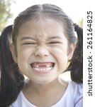 Asian Girl Child With Funny Big ...