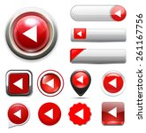 media  player button icon | Shutterstock .eps vector #261167756