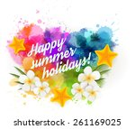abstract summer background with ...   Shutterstock .eps vector #261169025