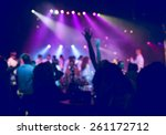 people having fun in a disco.... | Shutterstock . vector #261172712