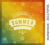 summer holidays poster design.... | Shutterstock .eps vector #261176936