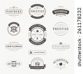retro vintage insignias or... | Shutterstock .eps vector #261178232