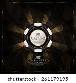 casino card design vintage... | Shutterstock .eps vector #261179195