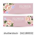 horizontal flower banners set... | Shutterstock .eps vector #261180032