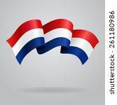 Dutch Waving Flag. Vector...