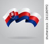 slovak waving flag. vector...   Shutterstock .eps vector #261180992