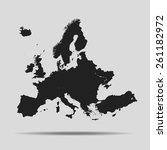 europe map | Shutterstock .eps vector #261182972