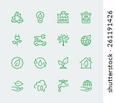 vector ecological icon set | Shutterstock .eps vector #261191426