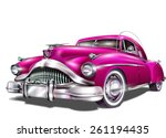 retro car. | Shutterstock .eps vector #261194435