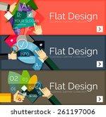 flat design vector infographic... | Shutterstock .eps vector #261197006