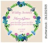 beautiful wedding invitation... | Shutterstock .eps vector #261202505