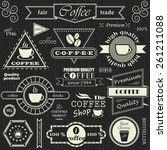 set of coffee labels  badges... | Shutterstock .eps vector #261211088