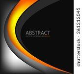 orange and yellow line vector... | Shutterstock .eps vector #261212045