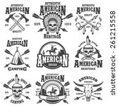 set of american indian emblems  ... | Shutterstock .eps vector #261215558