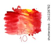watercolor background red | Shutterstock .eps vector #261228782