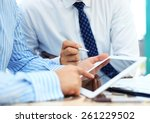 business adviser analyzing... | Shutterstock . vector #261229502