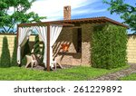 Gazebo With Fireplace And...