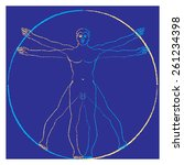 vitruvian man. vector ... | Shutterstock .eps vector #261234398