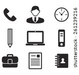 office work icon set | Shutterstock .eps vector #261239216