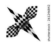 bend checkerboard | Shutterstock . vector #261246842