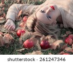 Girl With The Apple Is Lying O...
