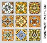 set with beautiful seamless... | Shutterstock .eps vector #261248432