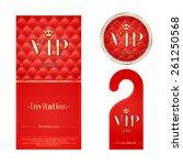 vip zone members premium... | Shutterstock .eps vector #261250568