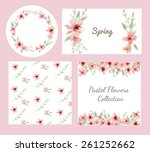 vector of flowers and leaves... | Shutterstock .eps vector #261252662