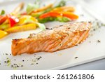 Salmon Steak With Corn And...