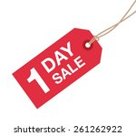 one day sale sign | Shutterstock .eps vector #261262922