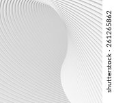 white curves abstract wallpapers | Shutterstock . vector #261265862