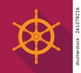 ship steering wheel icon with... | Shutterstock .eps vector #261278216