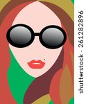 vector girl portrait beauty... | Shutterstock .eps vector #261282896