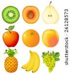 set of fruit   raster version   Shutterstock . vector #26128573