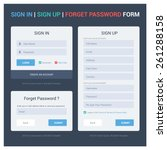 ui elements  login ... | Shutterstock .eps vector #261288158