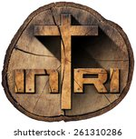 ������, ������: INRI Wooden Cross