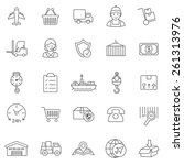 logistic line icons set.vector | Shutterstock .eps vector #261313976