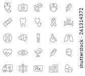 movie line icons set.vector | Shutterstock .eps vector #261314372