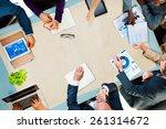 diversity business team... | Shutterstock . vector #261314672
